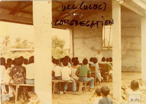 UCC congregation in March 1982